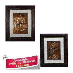 Religious Wall Mural - Copper Sheet Decorative Art Work