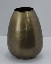 Metal Oval Flower Vase