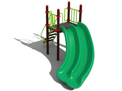 Playground Curved Slide