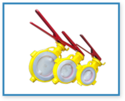 PFA/FEP Lined Butterfly Valves