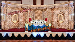asian wedding gold furniture stage
