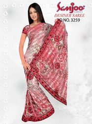 Printed Sarees With Additional Work