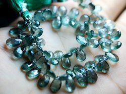 AAA Moss Aquamarine Faceted Pear Shape Briolettes