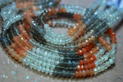 Multi Moonstone Faceted Rondelles