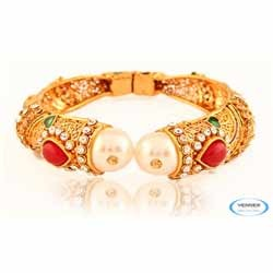 Wedding Pearl Bangle