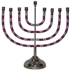 Enamel Menorah with Studs