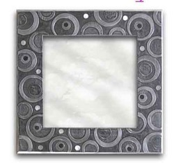 Mirrors in White Metal