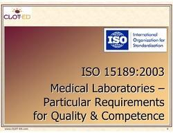 ISO 15189:2003 Training Services