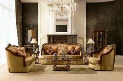 Exquisite Wooden Sofa Set