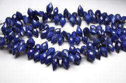 Lapis Lazuli Faceted Dewdrop Briolette