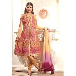 Luscious Peach & Pink Anarkali Suit