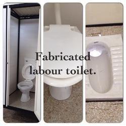 Stylish Fabricated Toilet Block