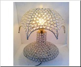 home decor crystal lamp with shed