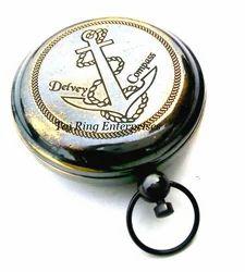 Antique Delvey Push Button Compass