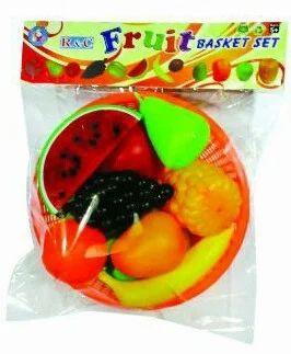 Plastic Fruits Basket Set