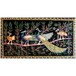 Zari Embroidery Peacock Wall Hanging
