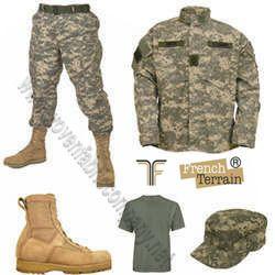 terry cotton army uniforms fabrics