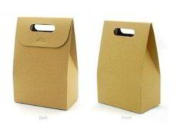 Kraft Paper Cake Bags With Die Cut Handles