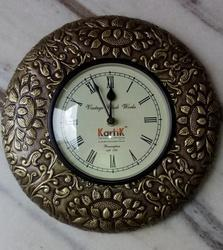 Wooden Brass Fitted Clock