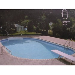 Long Oval Shaped Swimming Pools