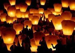 sky lanterns and kites