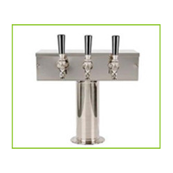t type square triple faucet beer tower