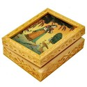 Wooden Gem Stone Jewellery Box