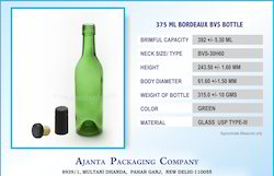 375 Ml Wine Glass Bottle Green
