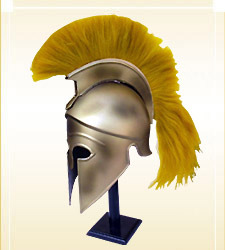 Corinthian Helmet With Yellow Plume