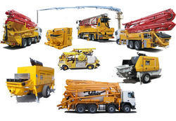 construction machinery on rent