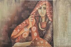 Rural Indian Lady Indian Painting