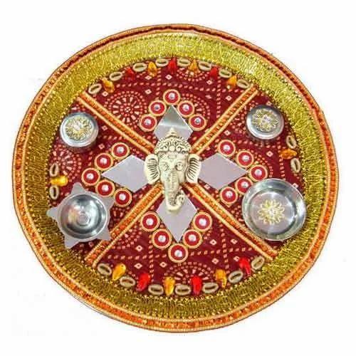 Wedding puja accessories wedding pooja thali manufacturer from mumbai wedding pooja thali junglespirit Image collections