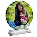 Circular Pedestal Photo Crystal