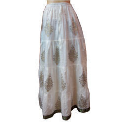 Cotton Printed Long Skirt