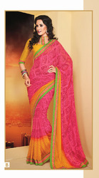 Bright Color Printed Sarees