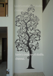 Tree Relief Wall Mural