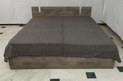 Kantha Gudari Solid Grey Color Handmade Quilt Bed Cover