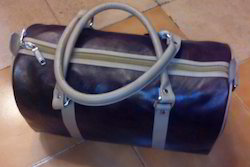 Leather Luggage Tote Bag