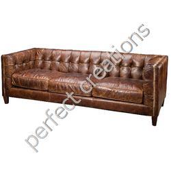 Vintage Industrial Leather Furniture. Ask For Price