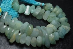 Natural Aquamarine Faceted Fancy Nuggets