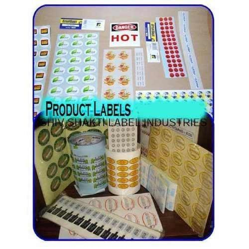Manufacturer of product labels product stickers by shiv shakti label industries vadodara