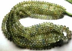 Moss Aquamarine Smooth Rondelles, Strand 14'' Size 4-5