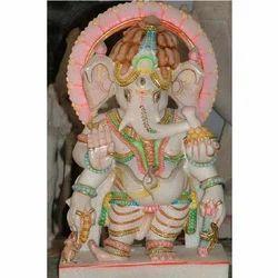 Standing Marble Ganesha Statue