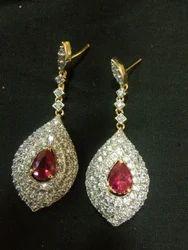 Pink Ruby Earrings