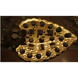 diwali leaf platter