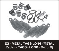 metal padlock tags long