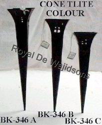 Cone T-Lite Holder Black