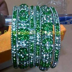 Silver Color Stone Bangles Set