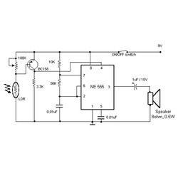 Burglar Alarm Project: Burglar Alarm Circuit Using Ic 555