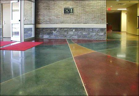 Colored Concrete Flooring Concrete Flooring Coating
